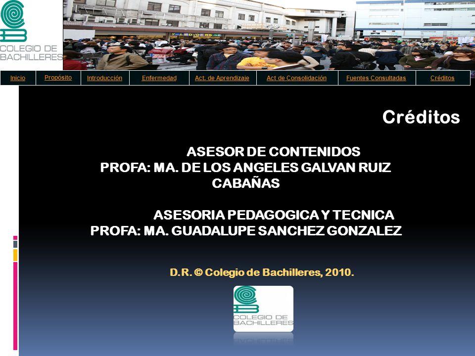 Créditos ASESOR DE CONTENIDOS
