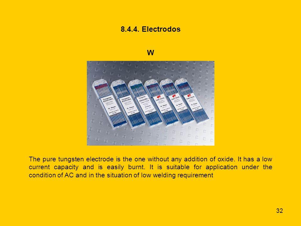 8.4.4. Electrodos W.