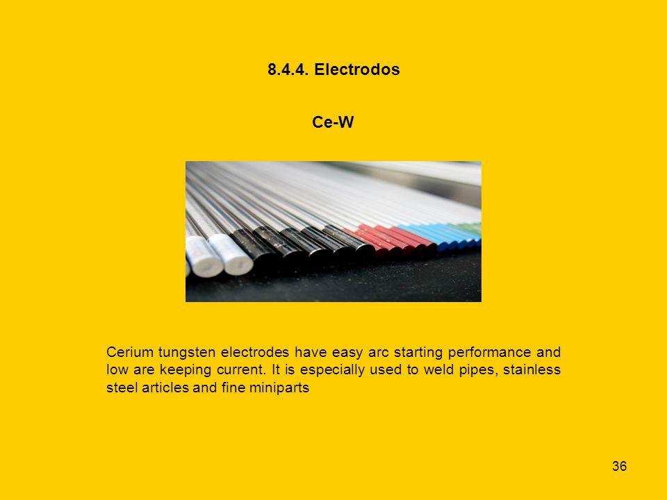 8.4.4. Electrodos Ce-W.