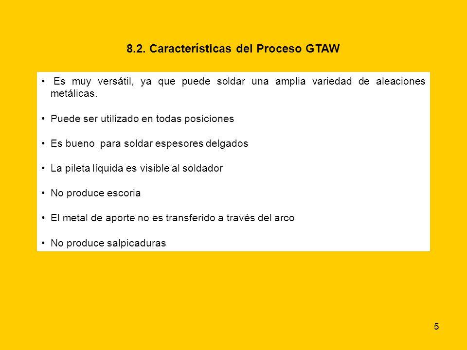 8.2. Características del Proceso GTAW