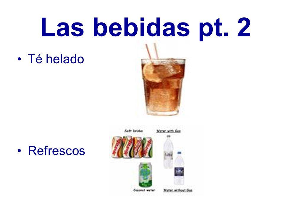 Las bebidas pt. 2 Té helado Refrescos
