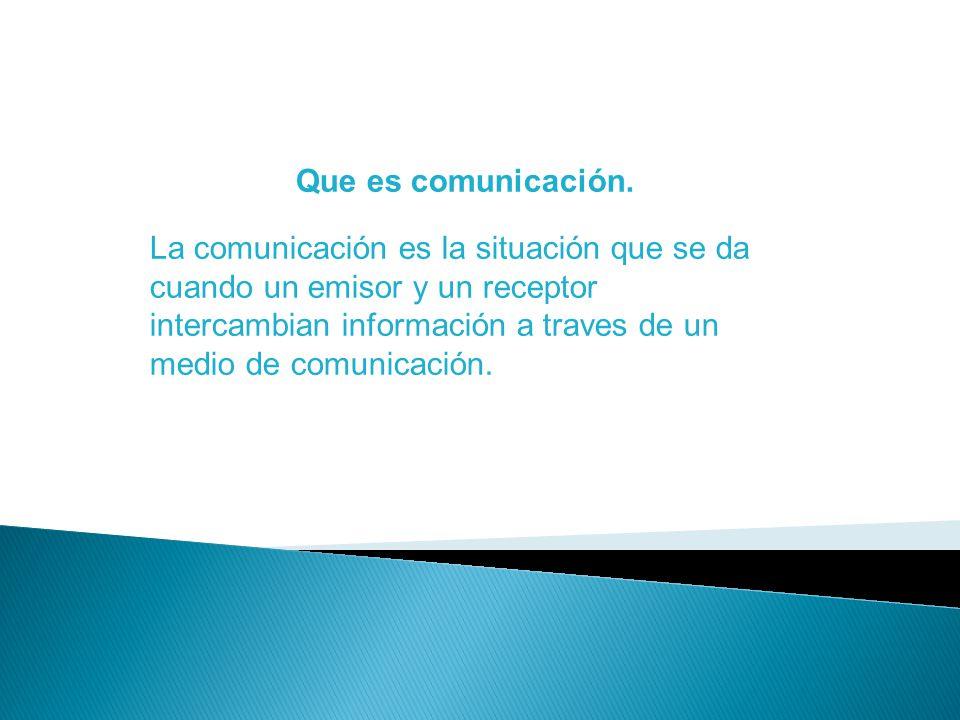 Que es comunicación.