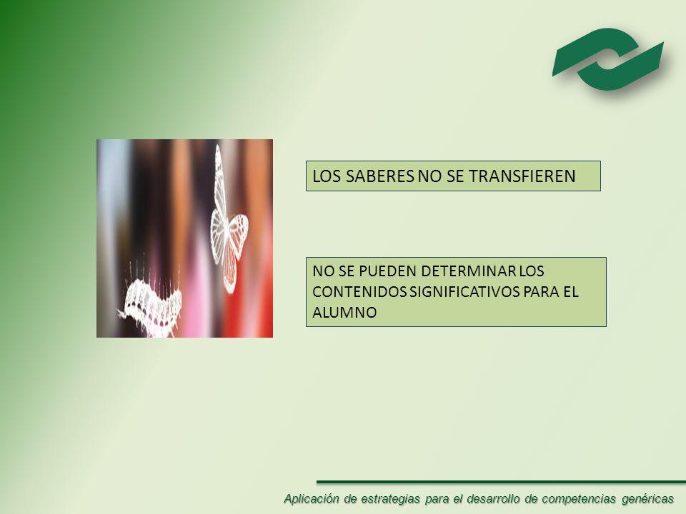 LOS SABERES NO SE TRANSFIEREN