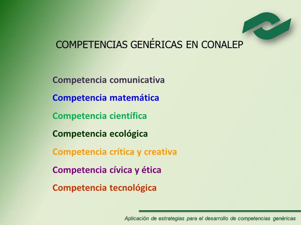 COMPETENCIAS GENÉRICAS EN CONALEP