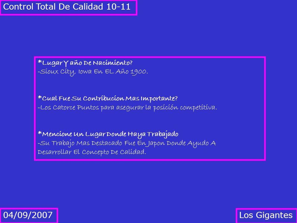 Control Total De Calidad 10-11