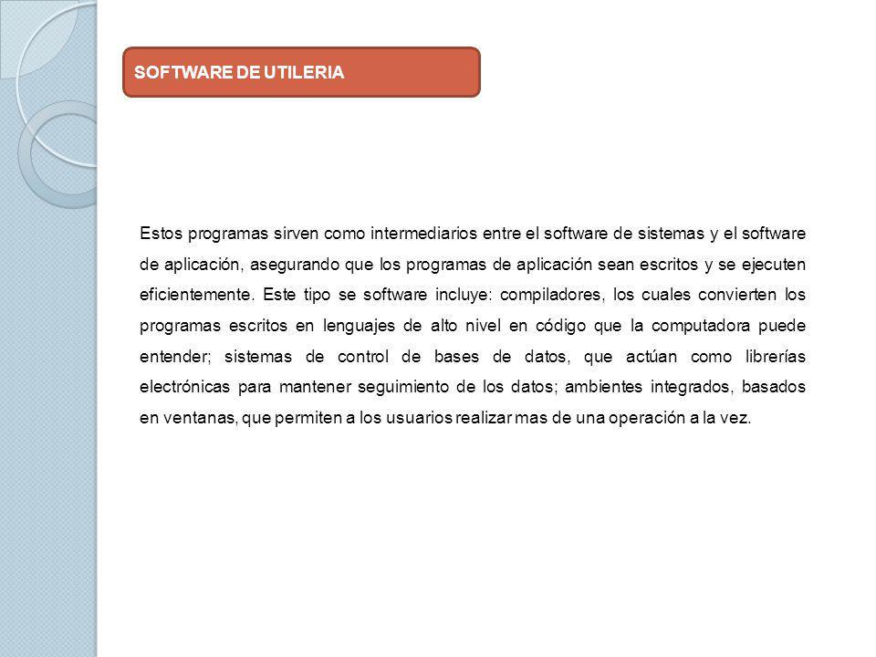 SOFTWARE DE UTILERIA