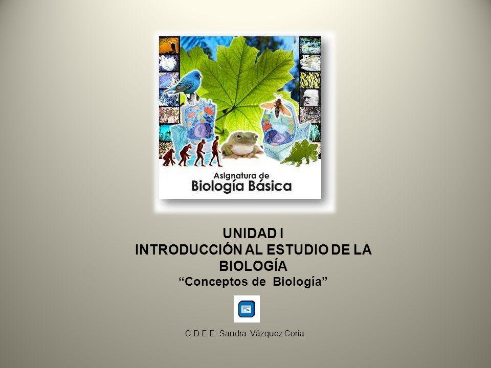 INTRODUCCIÓN AL ESTUDIO DE LA BIOLOGÍA Conceptos de Biología
