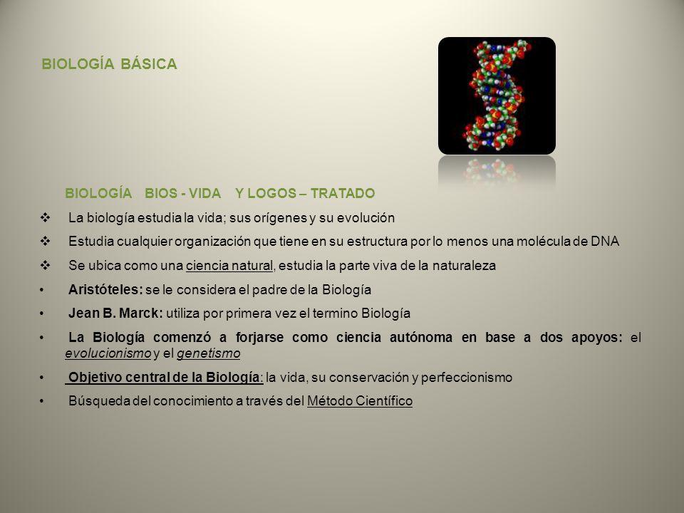BIOLOGÍA BÁSICA BIOLOGÍA BIOS - VIDA Y LOGOS – TRATADO