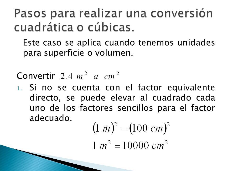 Pasos para realizar una conversión cuadrática o cúbicas.
