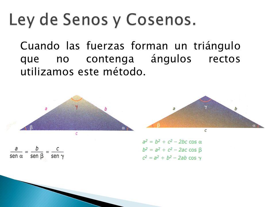 Ley de Senos y Cosenos.