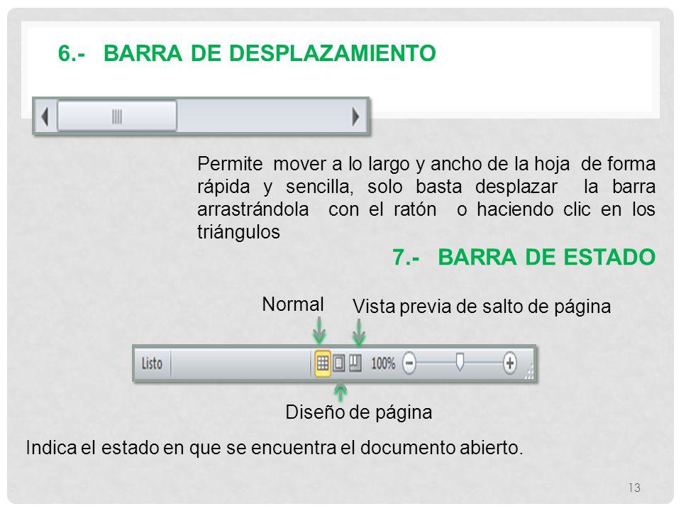 6.- BARRA DE DESPLAZAMIENTO