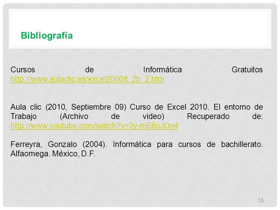 Bibliografía Cursos de Informática Gratuitos http://www.aulaclic.es/excel2000/t_2b_2.htm.