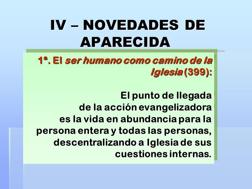 IV – NOVEDADES DE APARECIDA