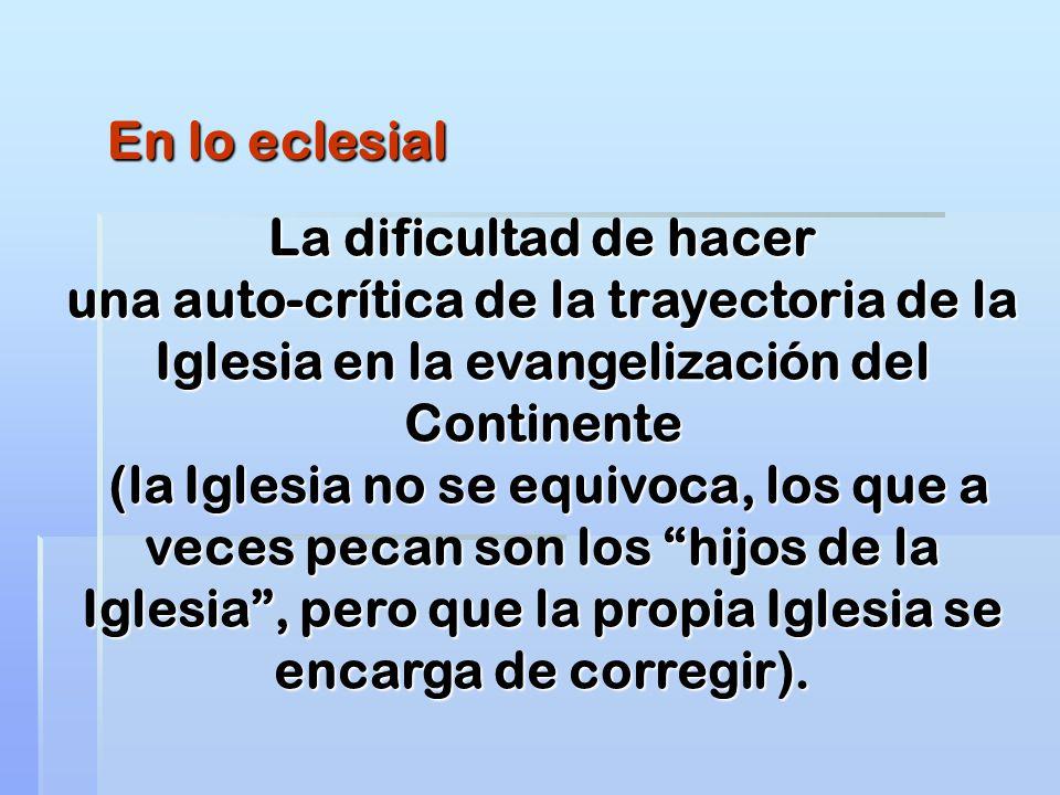 En lo eclesial