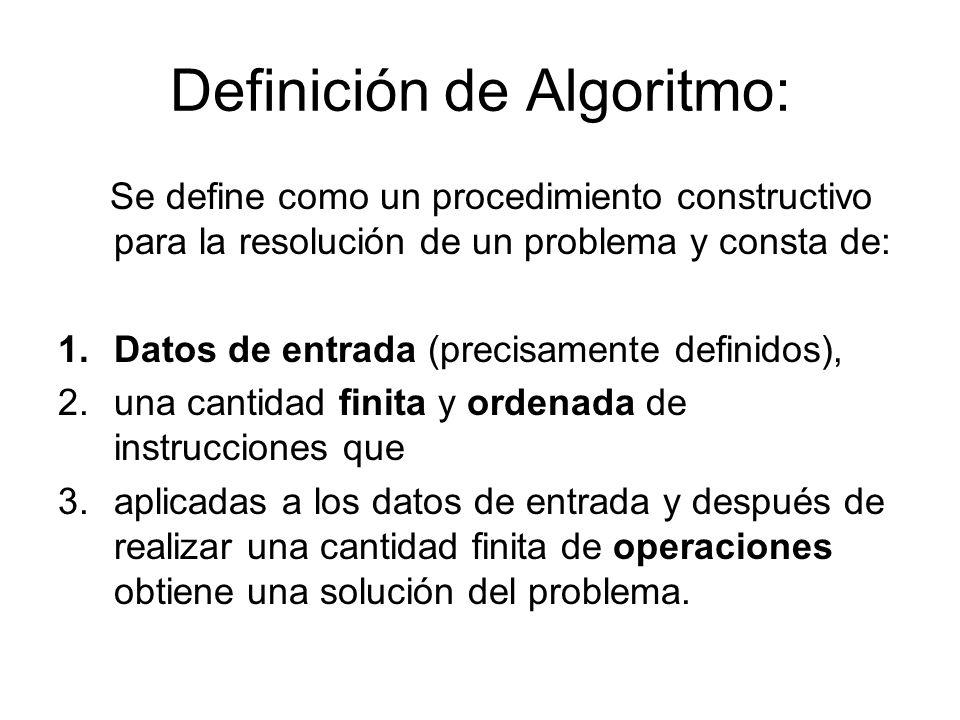 Definición de Algoritmo: