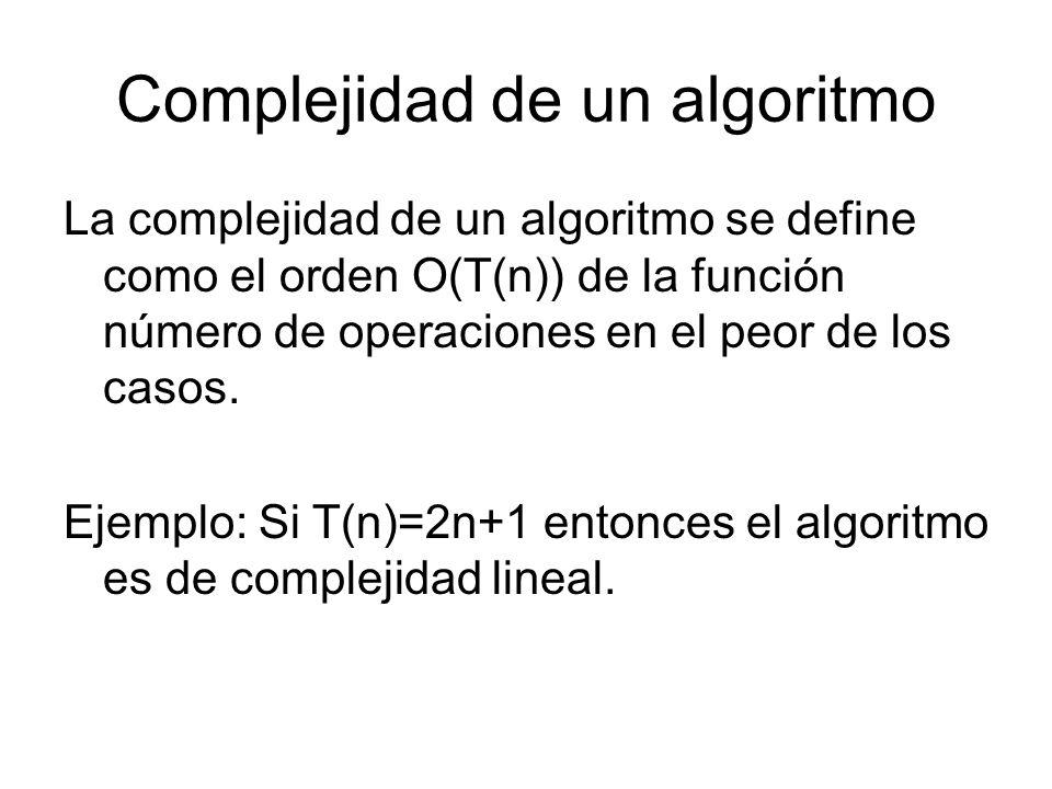 Complejidad de un algoritmo
