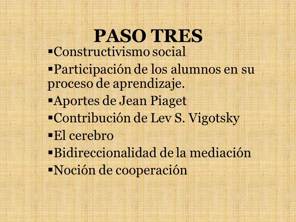 PASO TRES Constructivismo social