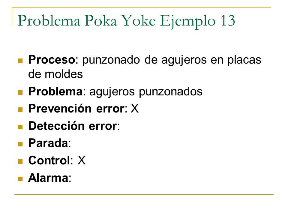 Problema Poka Yoke Ejemplo 13