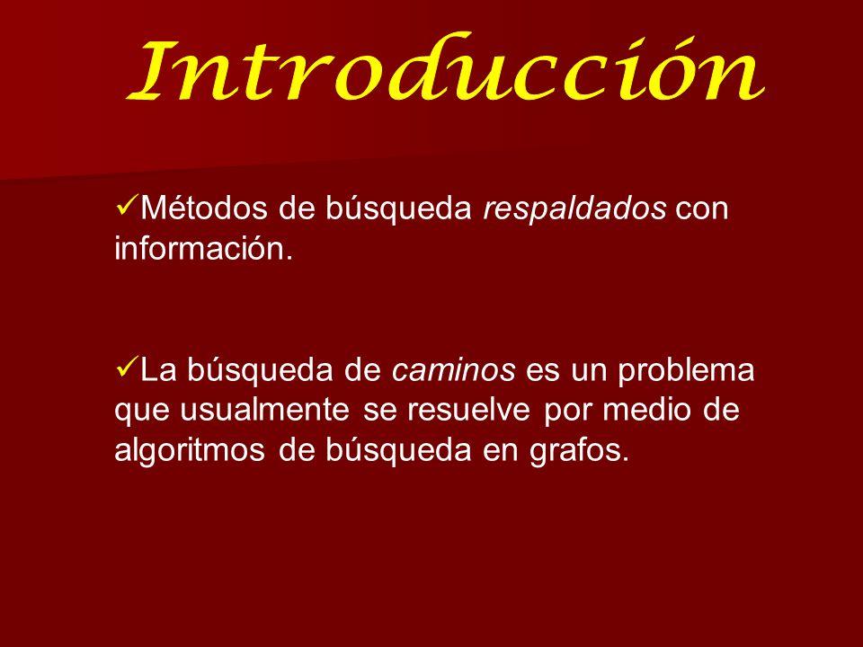 Introducción Métodos de búsqueda respaldados con información.