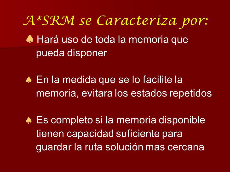 A*SRM se Caracteriza por:
