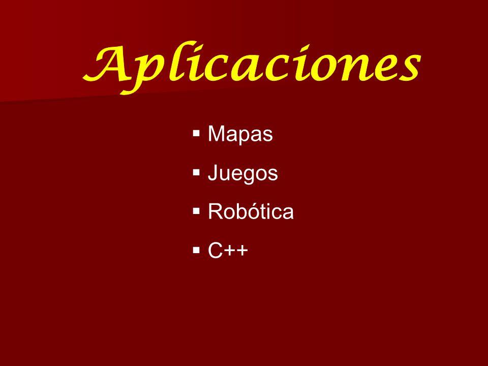 Aplicaciones Mapas Juegos Robótica C++