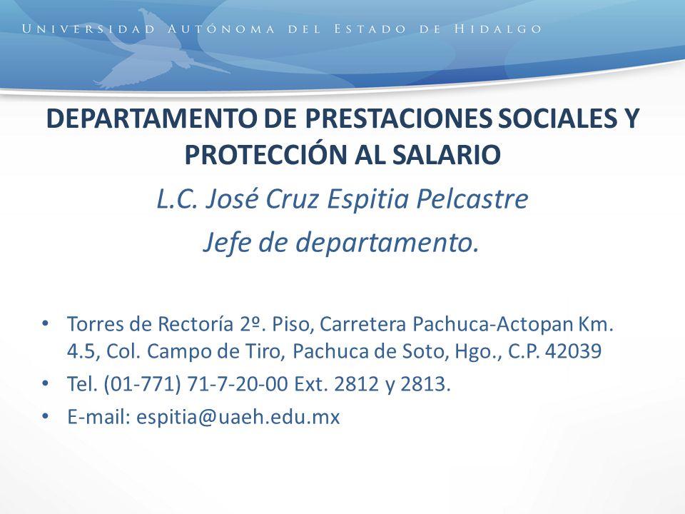 DEPARTAMENTO DE PRESTACIONES SOCIALES Y PROTECCIÓN AL SALARIO