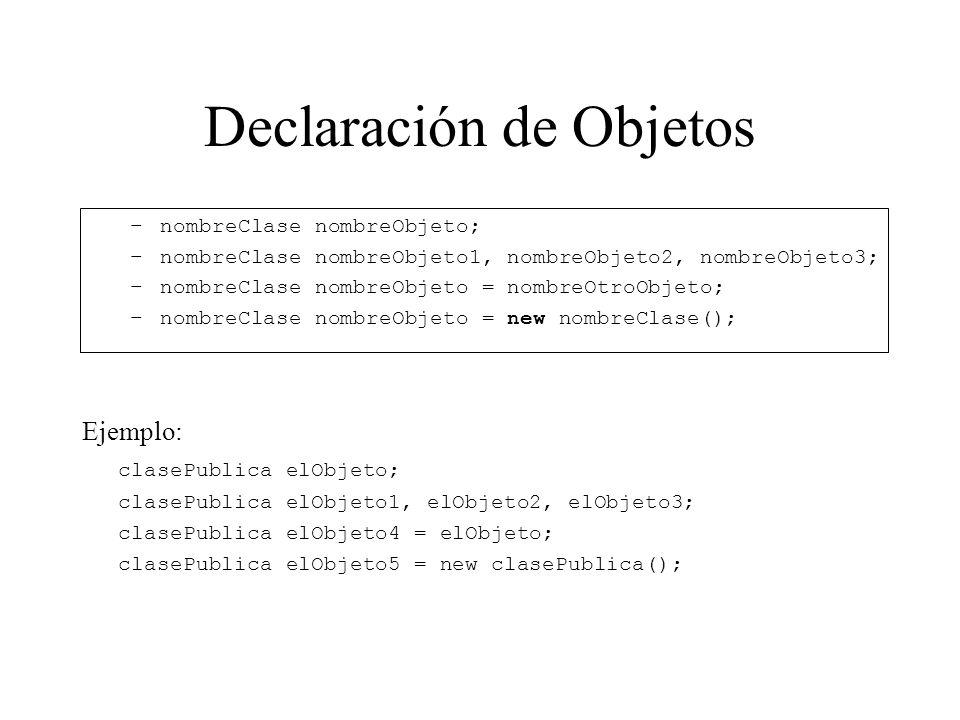 Declaración de Objetos