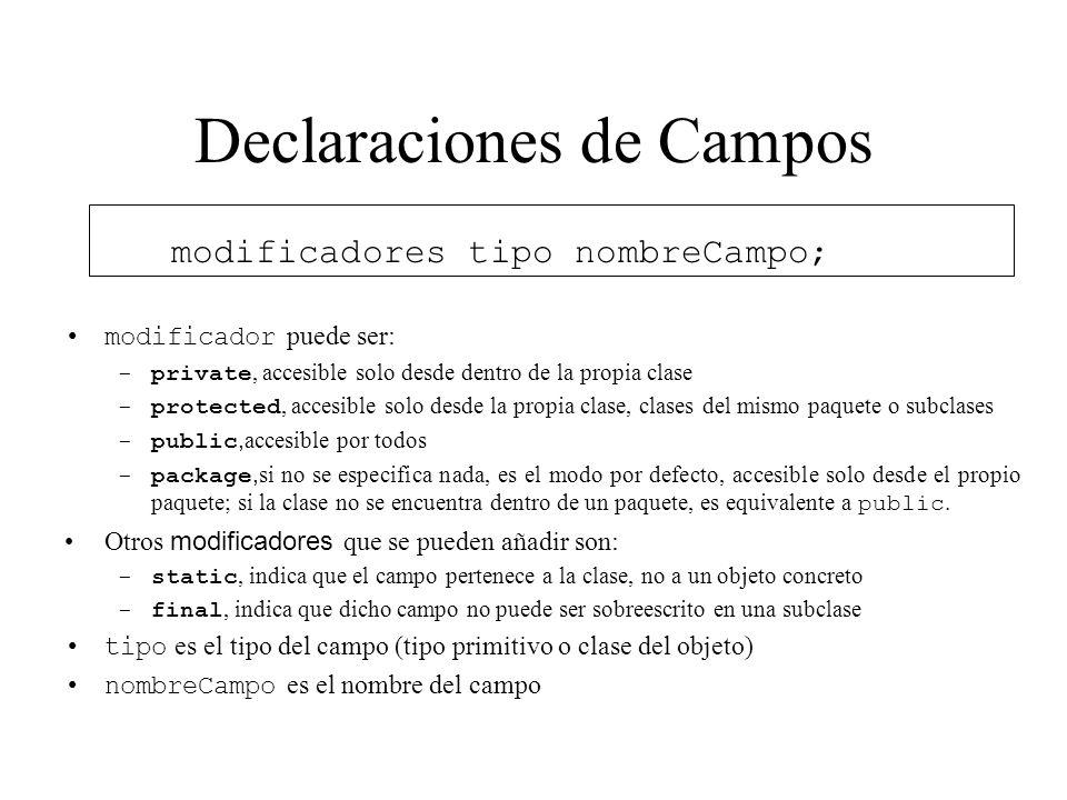 Declaraciones de Campos
