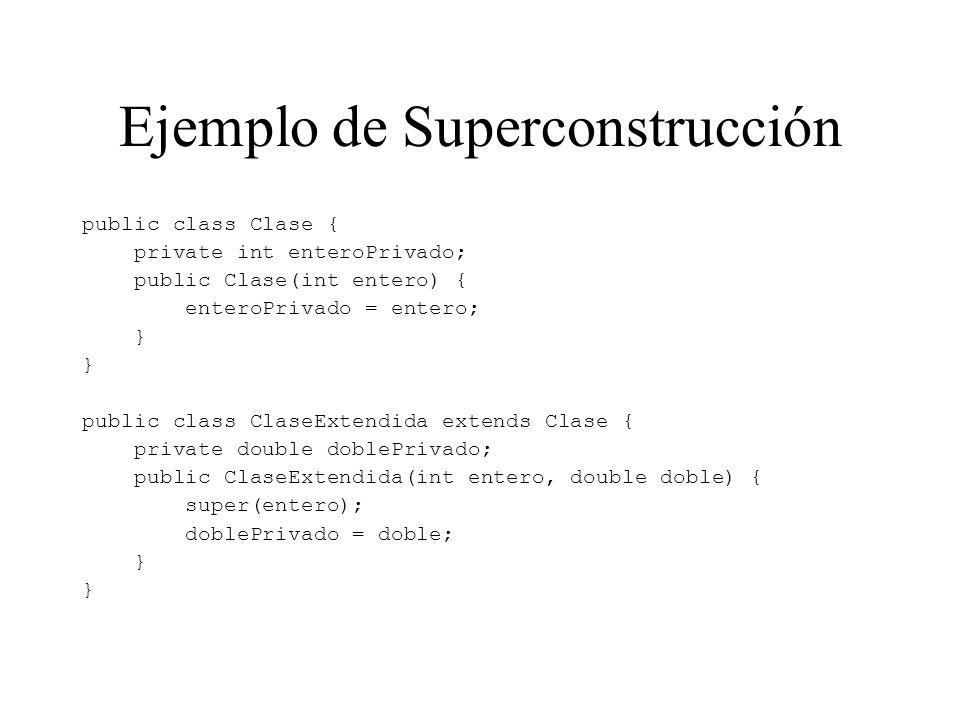 Ejemplo de Superconstrucción