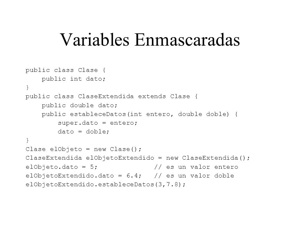 Variables Enmascaradas