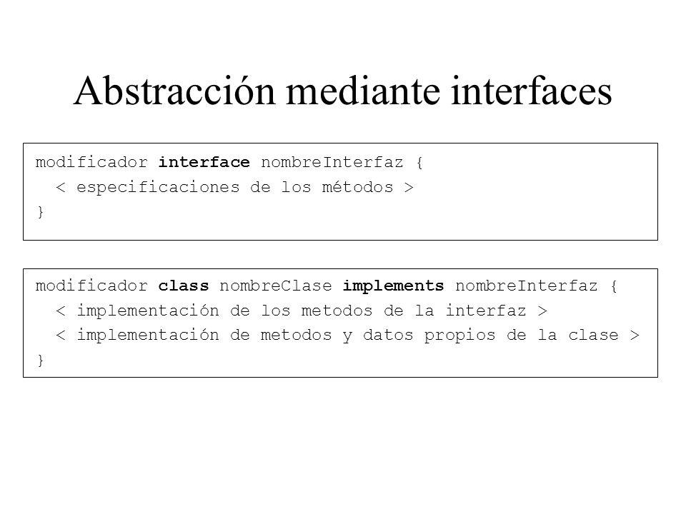 Abstracción mediante interfaces