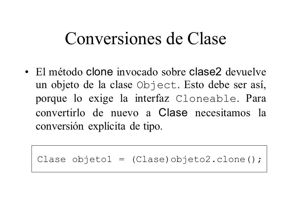Conversiones de Clase