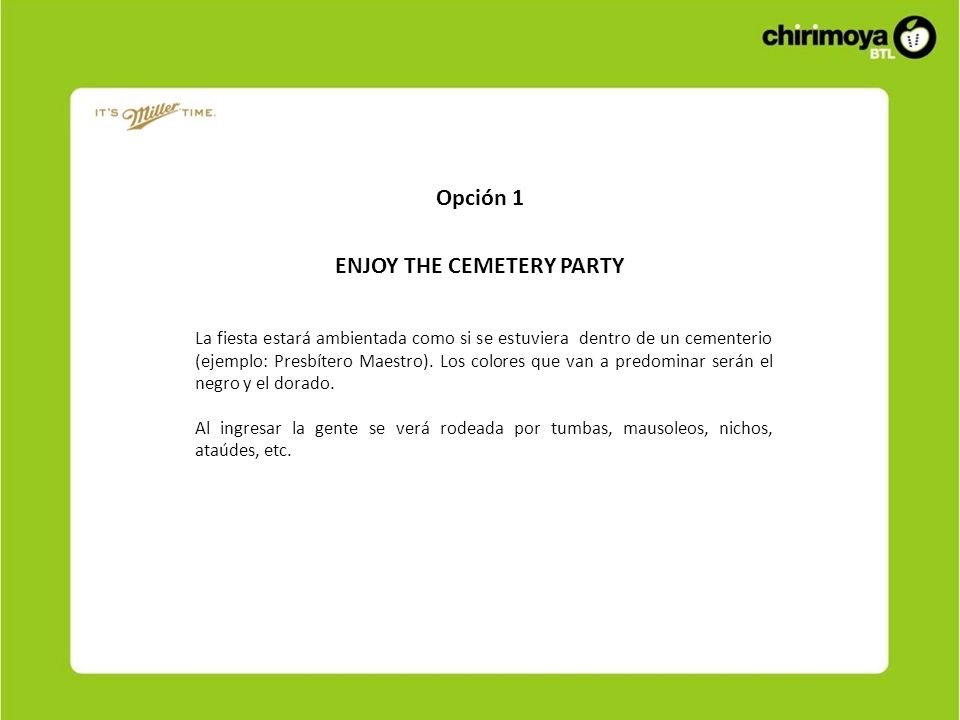 ENJOY THE CEMETERY PARTY