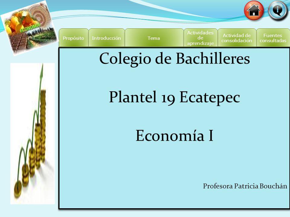 Colegio de Bachilleres Plantel 19 Ecatepec Economía I