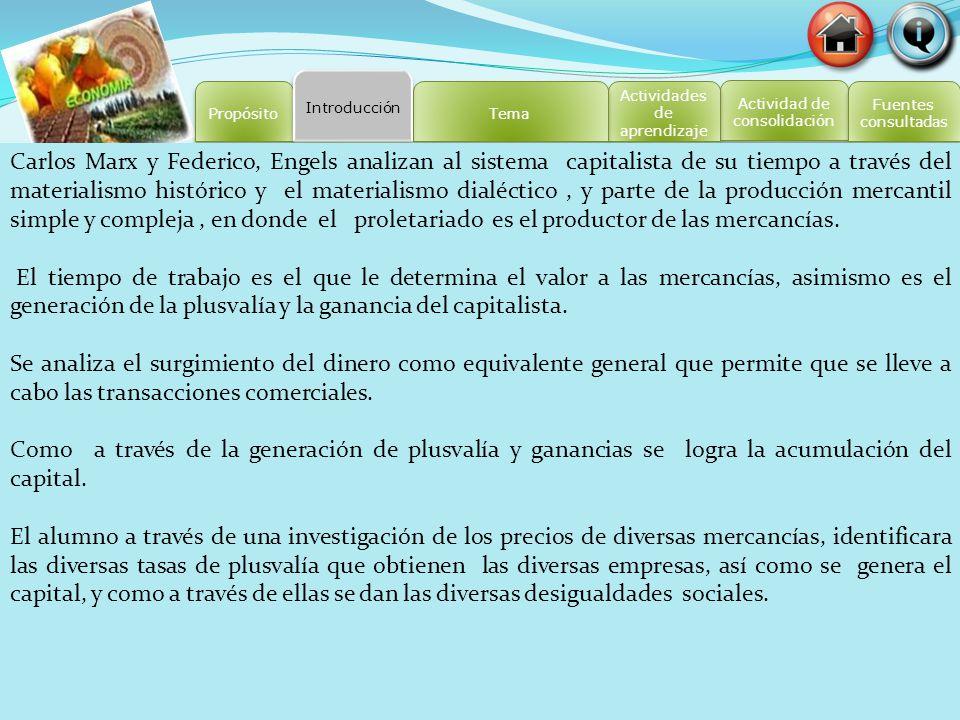 Introducción Propósito. Tema. Actividades de aprendizaje. Actividad de consolidación. Fuentes. consultadas.