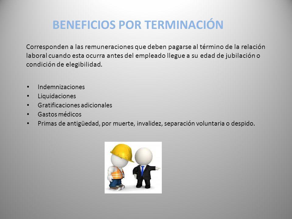 Beneficios por terminación