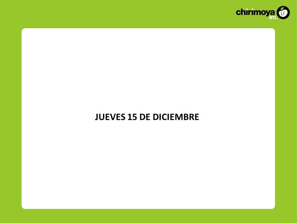 JUEVES 15 DE DICIEMBRE
