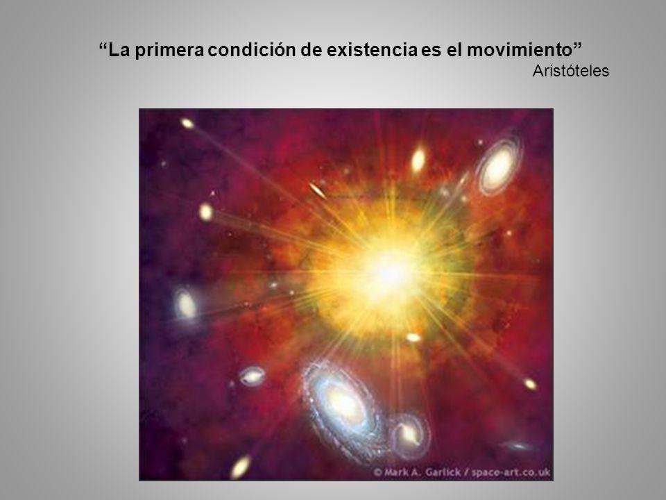 La primera condición de existencia es el movimiento
