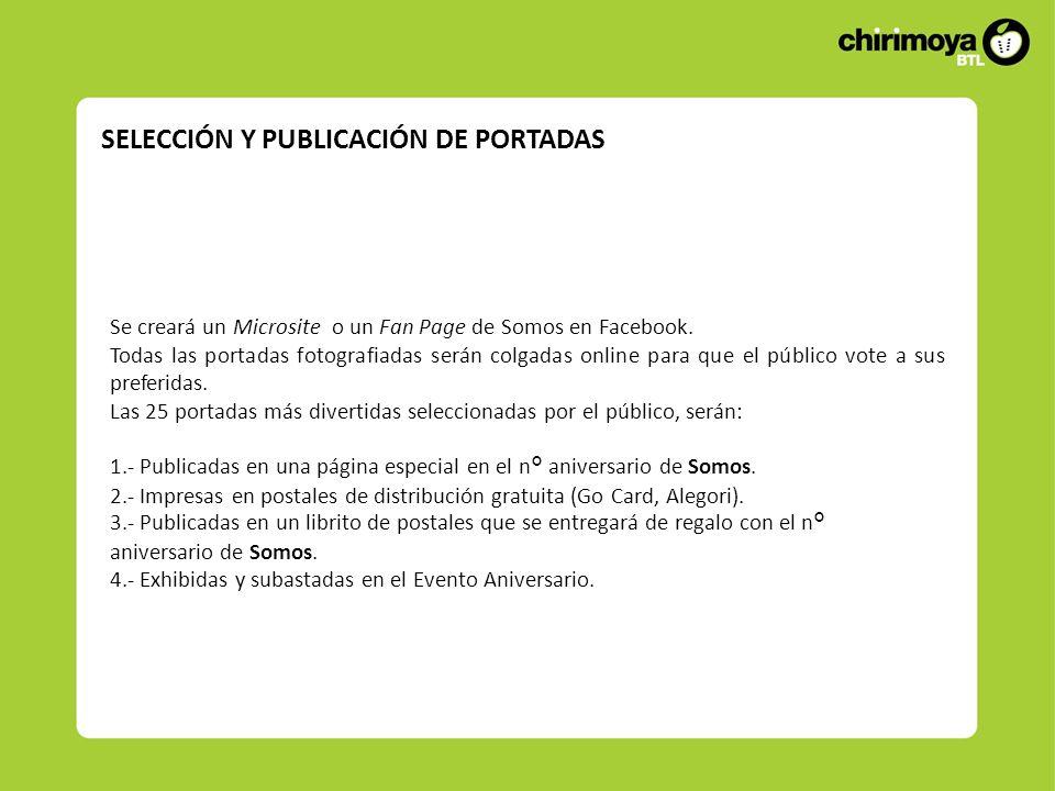 SELECCIÓN Y PUBLICACIÓN DE PORTADAS