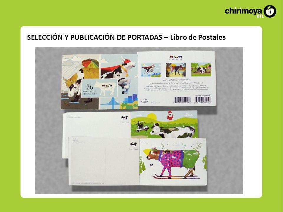 SELECCIÓN Y PUBLICACIÓN DE PORTADAS – Libro de Postales