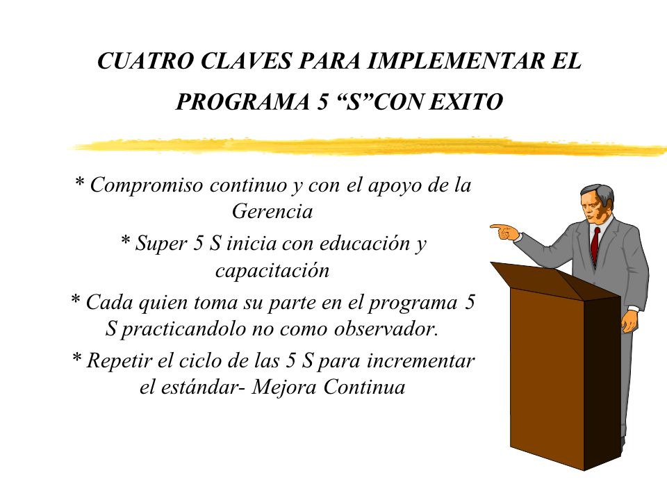 CUATRO CLAVES PARA IMPLEMENTAR EL PROGRAMA 5 S CON EXITO