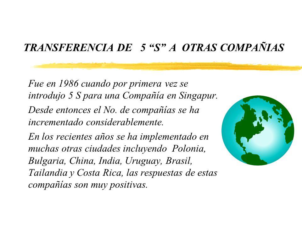 TRANSFERENCIA DE 5 S A OTRAS COMPAÑIAS