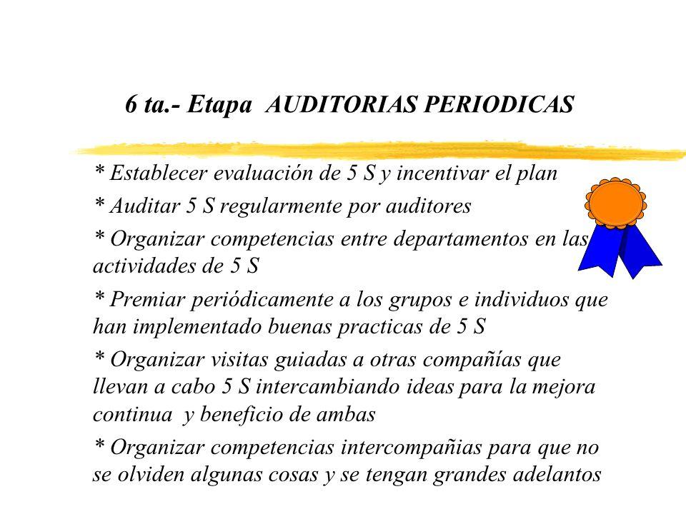 6 ta.- Etapa AUDITORIAS PERIODICAS