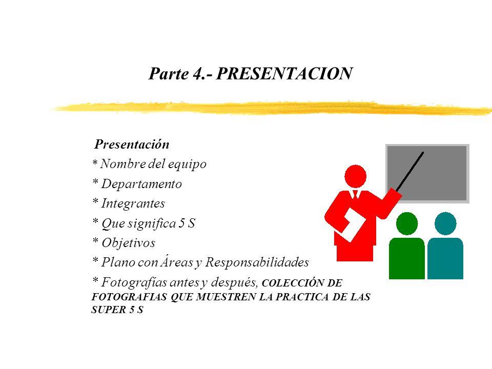 Parte 4.- PRESENTACION * Departamento * Integrantes