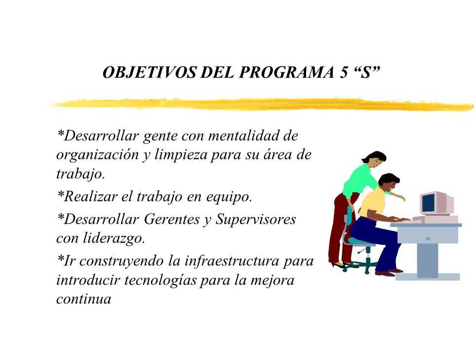 OBJETIVOS DEL PROGRAMA 5 S