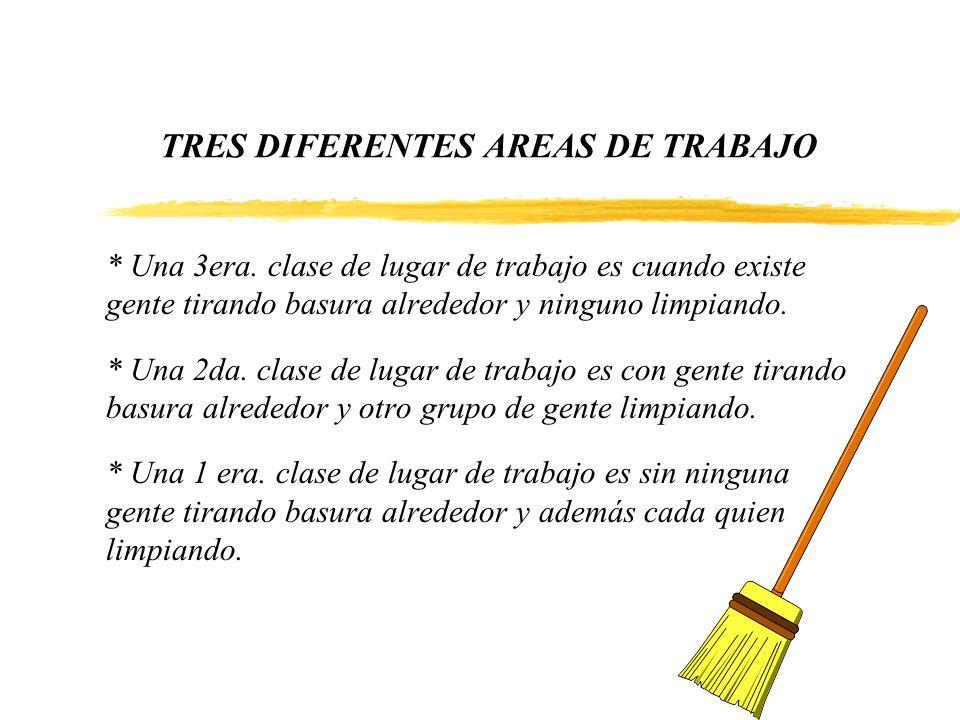 TRES DIFERENTES AREAS DE TRABAJO