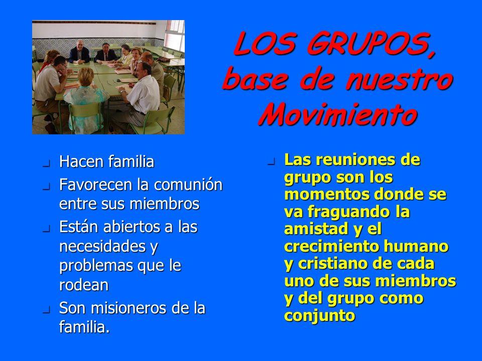 LOS GRUPOS, base de nuestro Movimiento