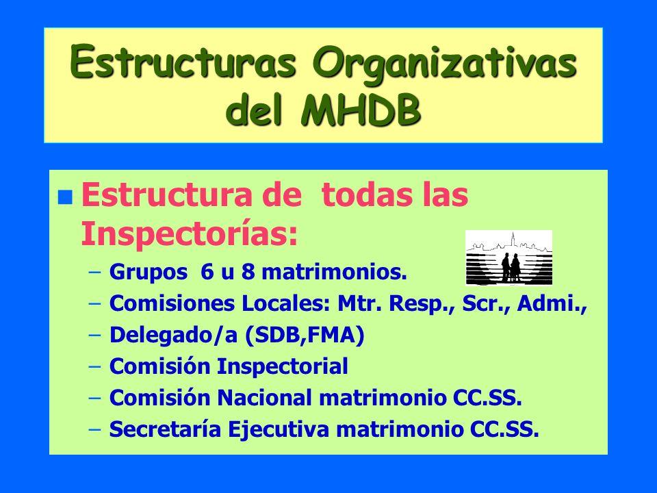Estructuras Organizativas del MHDB