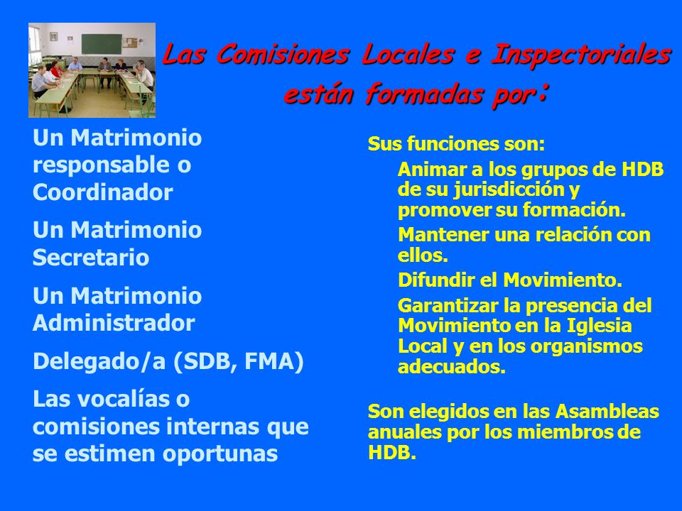 Las Comisiones Locales e Inspectoriales están formadas por: