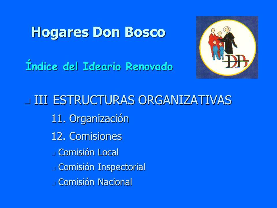Hogares Don Bosco III ESTRUCTURAS ORGANIZATIVAS
